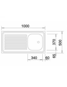 Zlewozmywak BLANCO R-ES 10 X 5 BEZ PRZELEWU, NAKŁADANY 510502