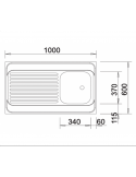 Zlewozmywak BLANCO R-ES 10 X 6 BEZ PRZELEWU, NAKŁADANY 510503