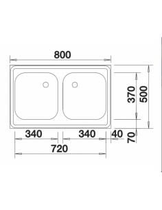 Zlewozmywak BLANCO Z 8 X 5 STAL MATOWA NAKŁADANY 518219