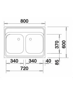 Zlewozmywak BLANCO Z 8 X 6 STAL MATOWA NAKŁADANY 518221
