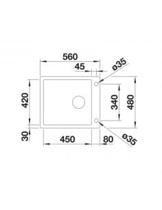 Zlewozmywak BLANCO CLARON XL 60-IF/A STEAMAR SYSTEMPLUS Z KOR. INFINO 521641