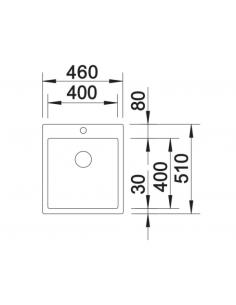 Zlewozmywak BLANCO C-STYLE 400-IF/A BEZ KORKA AUT 522242