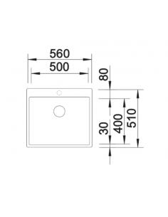 Zlewozmywak BLANCO C-STYLE 500-IF/A BEZ KORKA AUT 522245