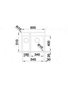 Zlewozmywak BLANCO C-STYLE 340/180-IF/A BEZ KORKA AUT 522248