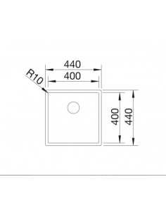 Zlewozmywak BLANCO C-STYLE 400-IF BEZ KORKA AUT.522241