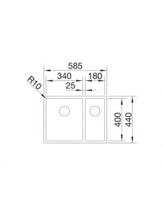 Zlewozmywak BLANCO C-STYLE 340/180-IF BEZ KORKA AUT 522247