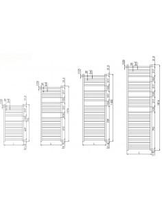 Grzejnik łazienkowy Zehnder Vision 792x500mm,kolor biały RAL 9016 QV-080-050