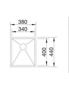 Zlewozmywak BLANCO ZEROX 340-IF Z KOR. INFINO 521582