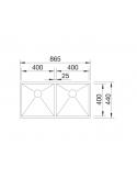 Zlewozmywak BLANCO ZEROX 400/400-IF Z KOR. INFINO 521619