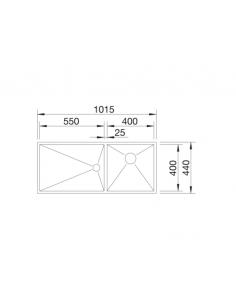 Zlewozmywak BLANCO ZEROX 400/550-T-IF PRAWA Z KOR. INFINO 521604