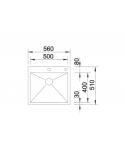 Zlewozmywak BLANCO ZEROX 500-IF/A Z KOR. INFINO 521630