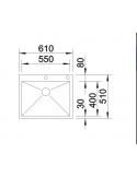 Zlewozmywak BLANCO ZEROX 550-IF/A Z KOR. INFINO 521638