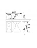 Zlewozmywak BLANCO ZEROX 340/180-IF/A PRAWA Z KOR. INFINO 521642