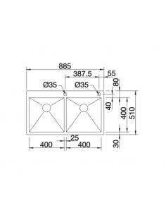 Zlewozmywak BLANCO ZEROX 400/400-IF/A Z KOR. INFINO 521648