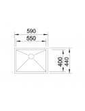 Komora podwieszana BLANCO ZEROX 550-U Z KOR. INFINO 521591