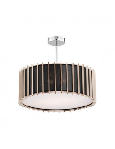 Lampa ARGON VARADERO czarna/drewno 790