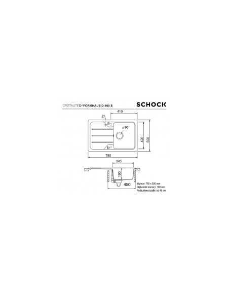 Zlewozmywak FORMHAUS CRISTALITE+ SCHOCK D-100S Alpina