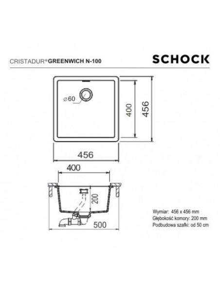 Zlewozmywak GREENWICH CRISTADUR  SCHOCK  N-100 Bronze