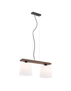 Lampa 2-pł. ARGON VERMOUTH drewno orzech 698