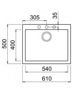 Zlewozmywak ELLECI QUADRA 110 GRANITEK cemento LGQ11048