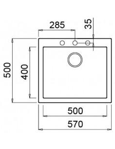 Zlewozmywak ELLECI QUADRA 105 METALTEK aluminium LMQ10579