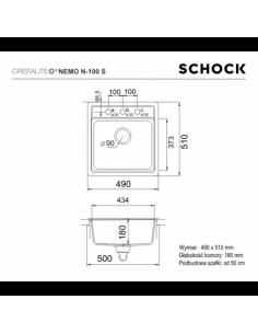 Zlewozmywak NEMO CRISTALITE+ SCHOCK N-100S Alpina