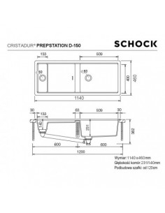 Zlewozmywak PREPSTATION CRISTADUR SCHOCK D-150 Bronze