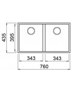 Zlewozmywak ELLECI QUADRA 350 METALTEK aluminium LMQ35079BSO