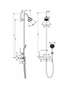 Komplet prysznicowy Axor Citterio M z termostatem 3jet Citterio M 34640000