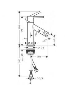 Bateria umywalkowa Axor Starck ze słuchawką typu Bidette 10300000
