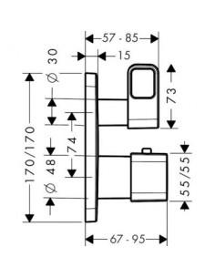 Bateria podtynkowa Axor Urquiola termostatyczna 11732000