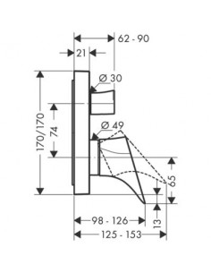Bateria wannowo-prysznicowa Axor Starck Organic podtynkowa jednouchwytowa chrom 12415000