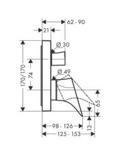 Bateria wannowa Axor Starck Organic podtynkowa jednouchwytowa Exafil 12416000