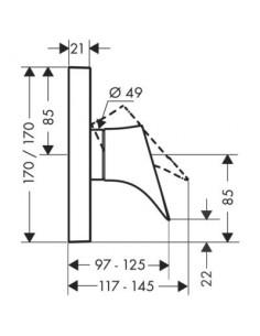 Bateria prysznicowa Axor Starck Organic podtynkowa jednouchwytowa 12605000