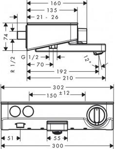 Bateria wannowa Hannsgrose ShowerTablet Select termostatyczna 300 natynkowa 13151400