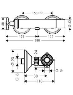 Bateria prysznicowa Axor Montreux termostatyczna 16261000