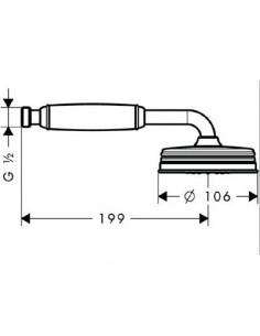 Słuchawka prysznicowa Axor Montreux nikiel szczotkowany 16320820