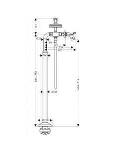 Bateria wannowo-prysznicowa Axor Montreux podłogowa 16547000