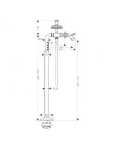 Bateria wannowo-prysznicowa Axor Montreux podłogowa nikiel szczotkowany 16547820