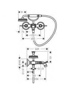 Bateria wannowo-prysznicowa Axor Montreux chrom 16551000