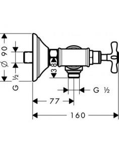 Bateria prysznicowa Axor Montreux dwuuchwytowa nikiel szczotkowany 16560820