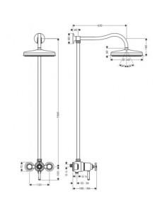 Komplet prysznicowy Axor Montreux 16570820