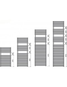 Grzejnik łazienkowy Zehnder Ovida Bow 1196x497 mm,podł.dolne,kolor biały RAL 9016 OVB-120-050