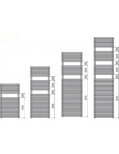 Grzejnik łazienkowy Zehnder Ovida Bow 1196x747 mm,podł.dolne,kolor biały RAL 9016 OVB-120-075