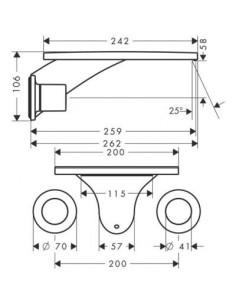 Bateria umywalkowa Axor Massaud podtynkowa 3-otworowa 18115000
