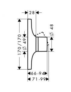 Bateria prysznicowa Axor Massaud podtynkowa jednouchwytowa 18655000
