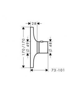 Bateria podtynkowa Axor Massaud termostatyczna High Flow 18741000