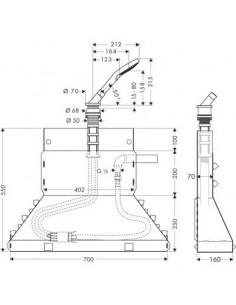 Zestaw Axor Bouroullec na brzeg wanny Secuflex z główką prysznicową 19418000