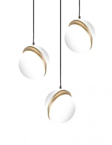 Lampa wisząca GLOBE 3 złota - LED,...