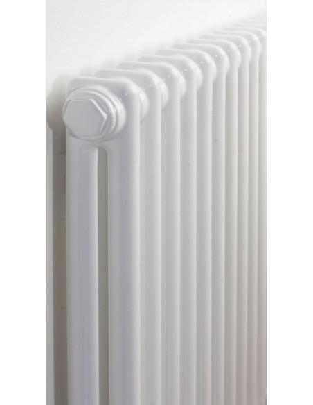 Grzejnik industrialny, Zehnder Charleston 2220,10 elem,460 mm,podł 3470 wys 220 cm,kolor biały+zawór termostat. biały Multilux